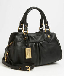 Nwt Marc By Marc Jacobs Classic Q Baby Groovee Leather Satchel Black Authentic