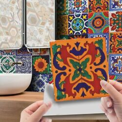 24Pcs Mosaic Tile Wall Stickers Kitchen Bathroom Self Adhesive Moroccan Style