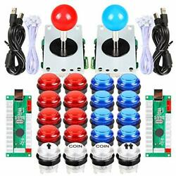 2 Player Led Arcade Joystick And Buttons Kit For Arcade Pc Game Controller Mame