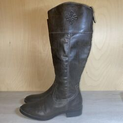 Simply Vera By Vera Wang Brown Riding Boots 73277 Womenand039s 7.5 Uk 5.5 Euro 39.5