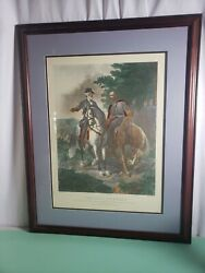 The Last Meeting Robert E Lee Stonewall Jackson Framed Print 24x32 By Julio