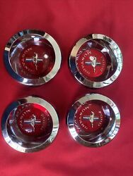 Nos 67 68 69 Ford Mustang Wheelcover Chrome Spinner Centers C7ma-1141-a