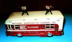 Nbc Television 1950's Tin Litho Friction Truck By Asahitoy Japan Displays Well