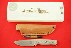 White River Knives And Tool Ursus 45 Black Canvas Micarta Handle Cpm-s35vn New