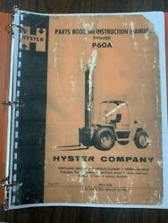 Hyster P60a Parts Book And Instruction Manual Pioneer Form 954