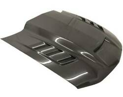 Vis Racing Carbon Fiber Hood Terminator Style For Ford Mustang 2dr 10-12