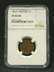 1864l Indian Head Penny Ngc Xf45