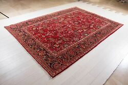 Tribal Area Rug Red Soft Large 7 X 10 Hand-knotted Oriental Wool Carpet