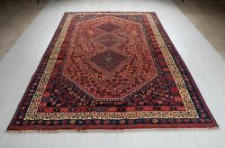 Vintage Tribal Area Rug Rustic Red 9and039 1 X 6and039 6 Collectible Oriental Carpet 6x9