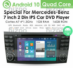 7 Android 10 Car Gps Radio Dvd Player Nav Dtv For Mercedes Benz E W211 Cls W219