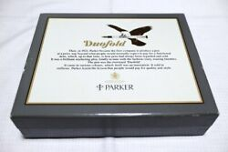 Parker Duofold Centennial Marble Blue Fountain Pen 18k-750 Limited Box Edition