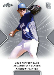 10 Ct Lot 2020 Andrew Painter Leaf Perfect Game Nike Aa Classic Aflac All Star G