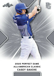 10 Ct Lot 2020 Casey Saucke Leaf Perfect Game Nike Aa Classic Aflac All Star Gam
