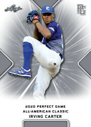 10 Ct Lot 2020 Irving Carter Leaf Perfect Game Nike Aa Classic Aflac All Star Ga