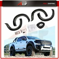 Fender Flares For Ford Ranger T6 2012-2015 Pocket Style Abs Smooth Rear + Front