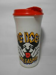 Vintage 1990and039s Big Dogs Unleashed Burger King Coca Cola Coke Travel Plastic Cup