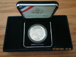2001 United States Mint Silver Buffalo Coin Proof Bf1 Sleeve, Box And Coa