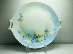 """Hutschenreuther Bavaria Cake Plate Cookies Tray Serving Dish Floral Handles 10"""""""