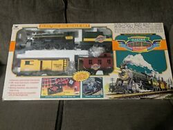 Electric Train Set By New Bright No. 375 Vintage Toy 1997. Open Box, Unused.