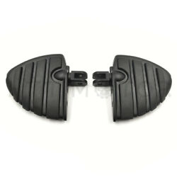 Black Wing Mini Floorboards W/ Adapters For Harley 2018-later Fxbb Fxbr Fxbrs Fx
