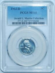 1943 D Pcgs Ms68 Lincoln Wheat Steel Cent