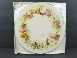 4 Pimpernel Hard Placemats Cork Backed Round Victorian 10 Acrylic England New