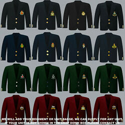 Units Q To R Army Royal Navy Air Force Marines Regiment 8 Button Blazer To 52