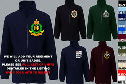 Units R To R Army Royal Navy Air Force Marines Regiment Fleece Jacket Xs To 5xl
