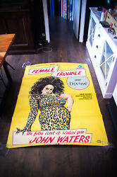 Female Trouble John Waters 4x6 Ft French Grande Movie Poster Original 1984 Used