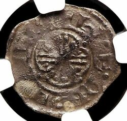 Norman. Stephen. 1135-1154. Silver Penny, Lincoln, S-1295, Ngc Vg