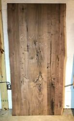 Table Top W31-8443 Live Edge Black Walnut Unfinished As Is