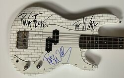 Roger Waters The Wall Pink Floyd Jsa Autograph Signed Bass Guitar