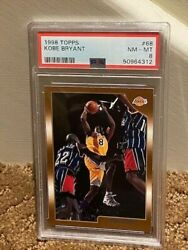 1998 Topps Kobe Bryant Centered Card Psa 8 Lakers 68 New Clean Case