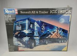 1996 Revell 1/24 Model Renault Ae And Trailer Ice Truck Tractor Trailer New Sealed