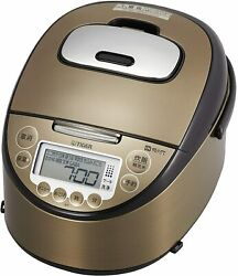 Tiger Thermos Jkt-p100-tk Rice Cooker 5.5 Cup Ih Equipped With 10 Different F/s
