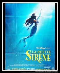 The Little Mermaid A Walt Disney 4x6 Ft Vintage French Grande Movie Poster 1990