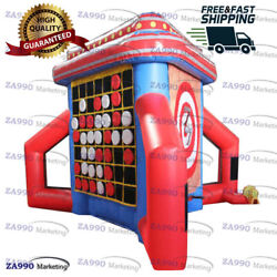 13x15ft 3 In 1 Interactive Inflatable Activities Sports Games With Air Blower