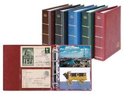 Postcard Album Lotos Blue With 50 Crystal Clear Pages Lindner 5800-b