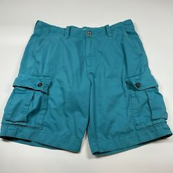 American Eagle Classic Mens Blue Cargo Shorts Size 36