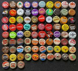 83 Old Soda And Non Beer Bottle Caps/crowns - Cork And Plastic Backed A