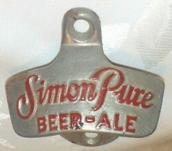 Vintage Starr X Simon Pure Beer-ale Wall Mount Bottle Opener Advertising