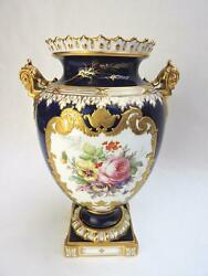 Royal Crown Derby Vase Painted By Albert Gregory - Dated 1921