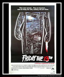Friday The 13th 27x40 Us One Sheet Vintage Movie Poster Original 1980