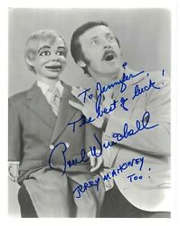 Paul Winchell Autographed 8x10 Jerry Mahoney Time Winnie The Pooh Tigger