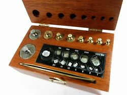 Complete Antique Apothecary/laboratory Metric Weight Set + Fractionals