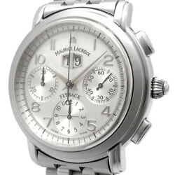 Maurice Lacroix Masterpiece Grangiche Flyback Chronograph Silver Dial Automatic