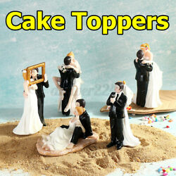 Wedding Cake Topper Love Bride Groom Couple Resin Figurine Party Decorations