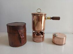 Vintage Wwi Barret And Sons Picadilly Military Campaing Stove With Leather Case