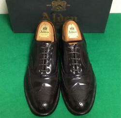 Alden Auth 96070 Cordovan Wing Tip Dress Shoes Burgundy Us 8.5d Used From Japan