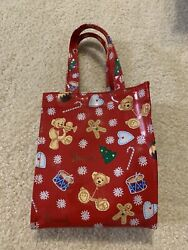 Harrods Christmas Gingerbread Trees Bears Drums Small Vinyl Tote